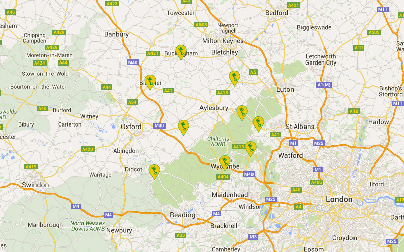 Aylesbury Lock and Key Centre Coverage Map