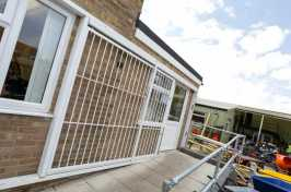 outside door security grilles
