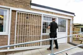 sliding security grilles installation
