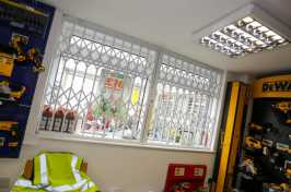 shop window security grilles