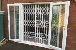 french doors security grilles