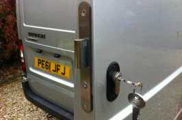 van lock replaced
